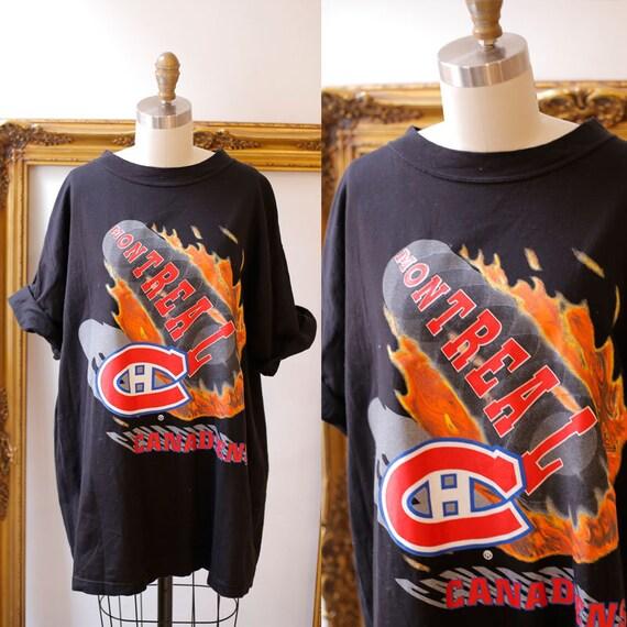 1990s Montreal Canadiens tee // 1990s NHL tshirt // vintage t-shirt