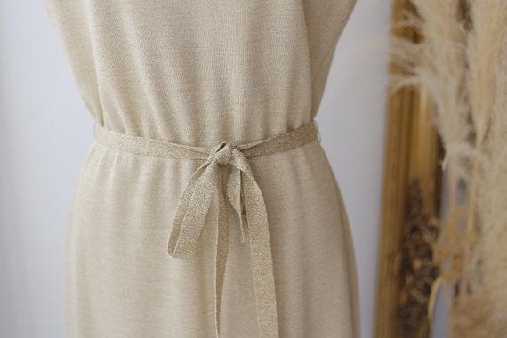 1960s gold sparkle dress set // sweater dress set… - image 3