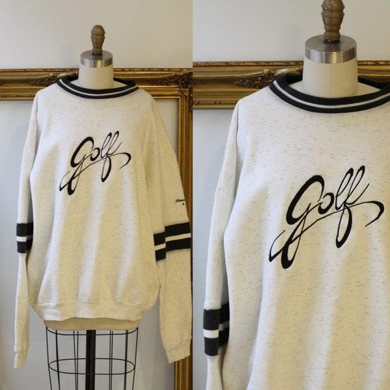 1990s Golf sweatshirt // 1990s Golf sport sweatshirt // vintage sweatshirt