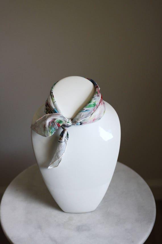 1960s Australia scarf // vintage souvenir neck scarf // vintage purse scarf