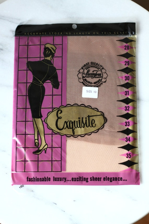 1960s Exquiste nylons // deadstock hoisery // vintage nylons