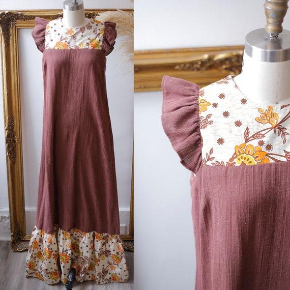 1970s tropical maxi dress // 1970s Hawaiian dress // vintage dress