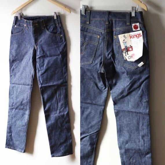 """1960s GWG super slim king 29"""" waist jeans // vintage GWG denim // vintage jeans"""