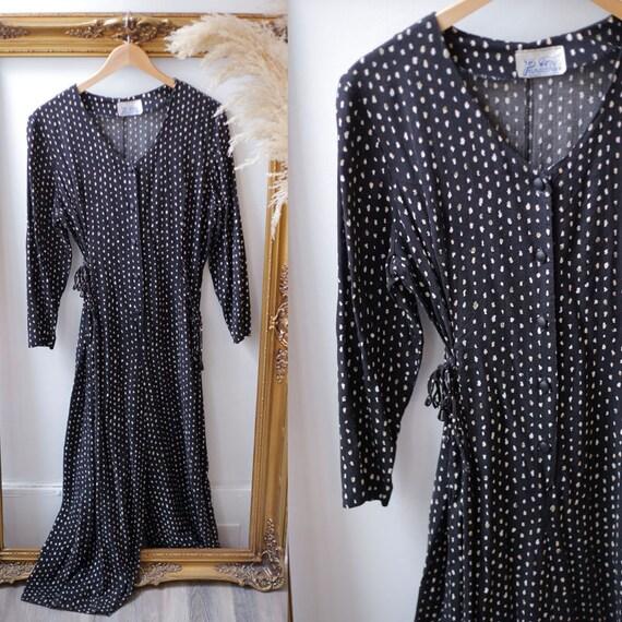 1970s black jumpsuit // 1970s lace up pantsuit // vintage jumpsuit