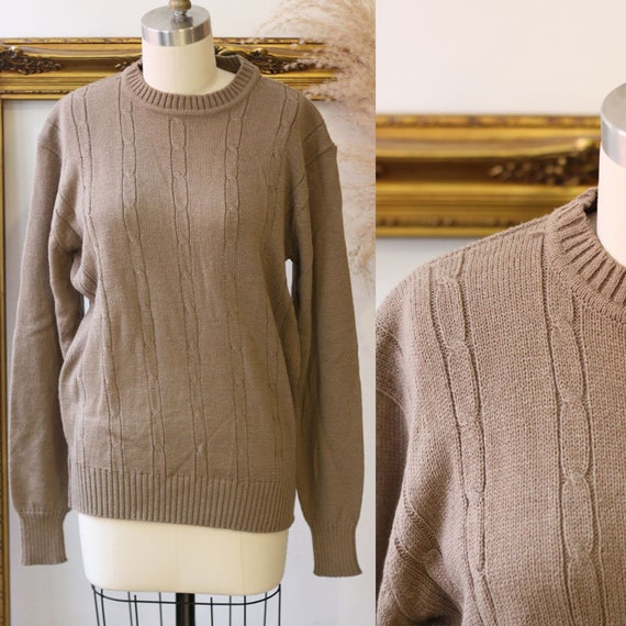1970s soft brown sweater // vintage knit // vintage sweater