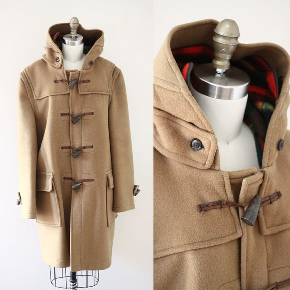 RESERVED // 1960s tan duffle coat // Gloverall duffle coat // vintage coat