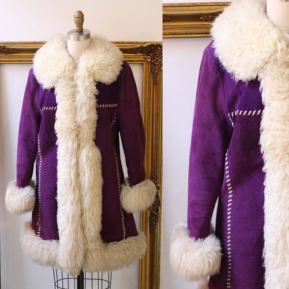 1970s purple suede coat // 70s purple suede coat // vintage coat