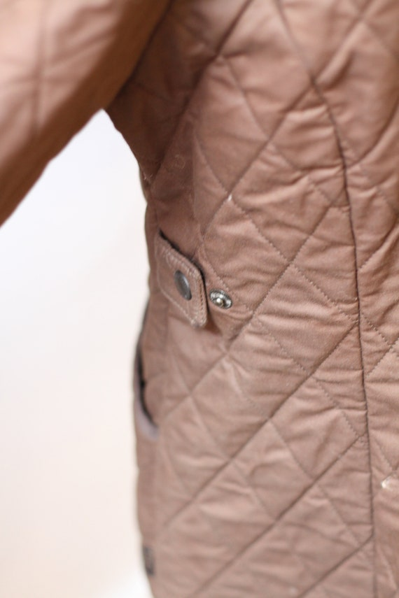 1990s quilted Barbour jacket  //brown quilted jac… - image 10