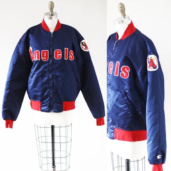 1980s Angels bomber jacket //1980s baseball bomber jacket  // vintage bomber jacket