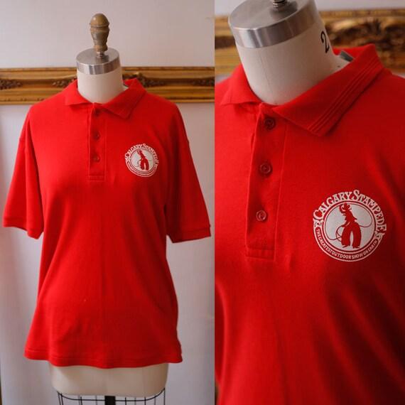 1980s red vintage t-shirt // 1980s Calgary Stampede // vintage t-shirt