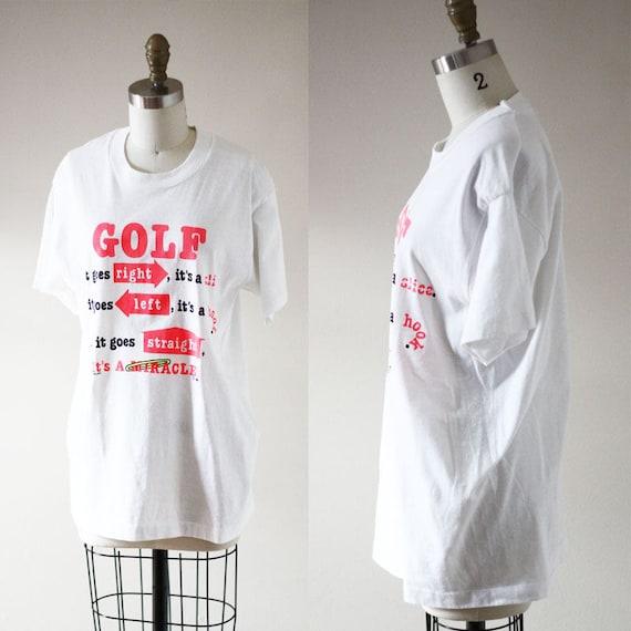 1990s Golfing novelty tee // 1990s golf t-shirt // vintage t-shirt