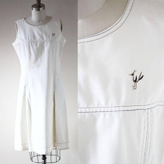 1960s Woodpecker shift dress // 1960s dress // vintage dress