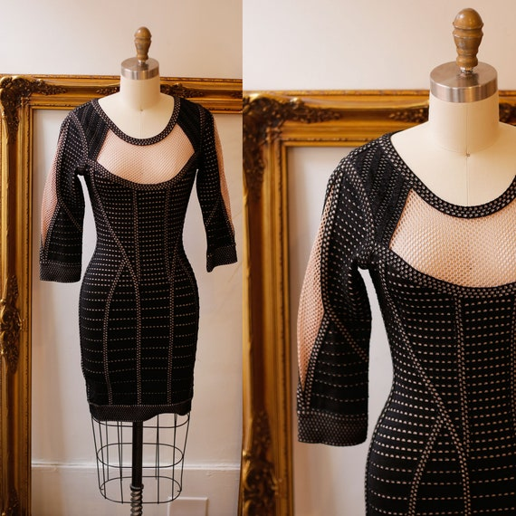 2000s Herve Leger dress dress // bodycon mini dress // vintage mini dress