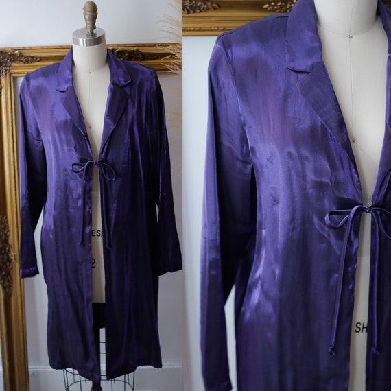 1980s purple sheer jacket// 1980s sheer jacket // 1980s sheer blazer