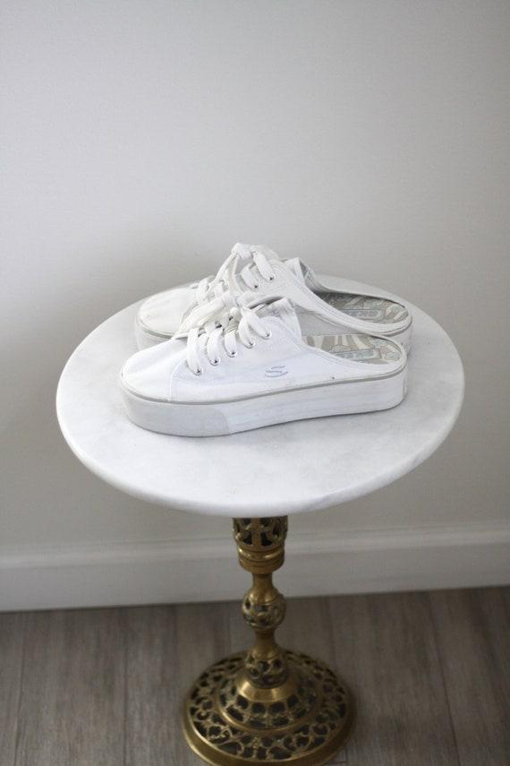 1990s sneaker platforms // 1990s platforms // vintage shoes