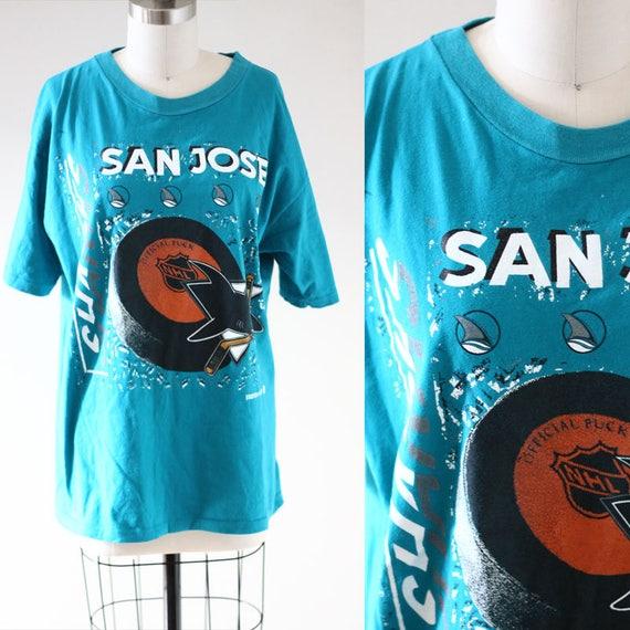 1990s San Jose Sharks tee // 1990s NHL tshirt // vintage t-shirt