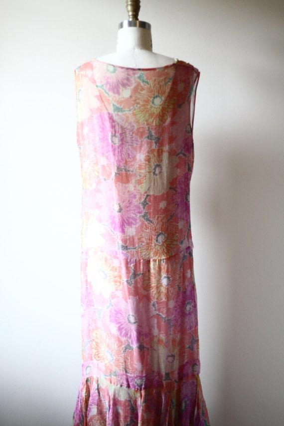1920s floral silk chiffon dress // 1920s flapper … - image 5