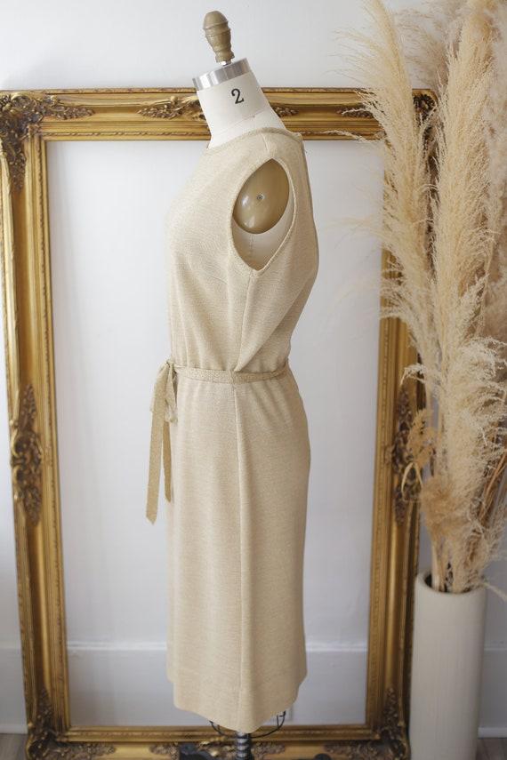 1960s gold sparkle dress set // sweater dress set… - image 4