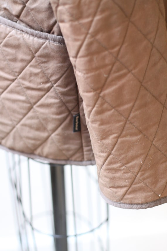 1990s quilted Barbour jacket  //brown quilted jac… - image 7