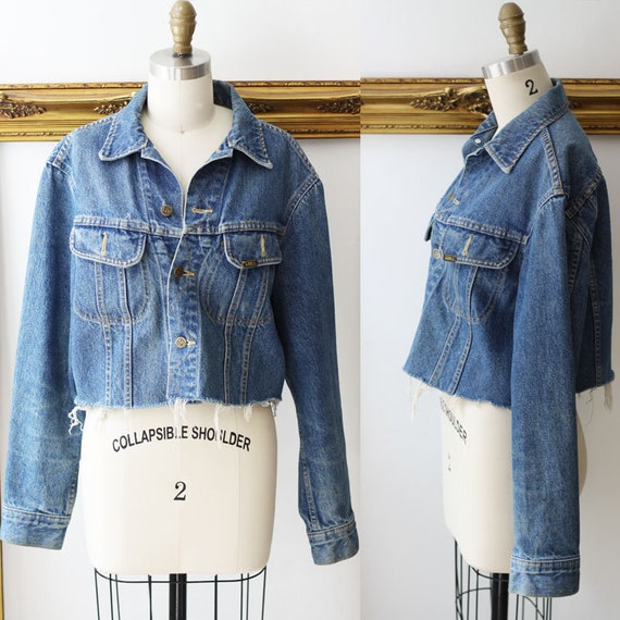 1970s raw edge denim jacket // 1970s Lee jacket // vintage denim jacket