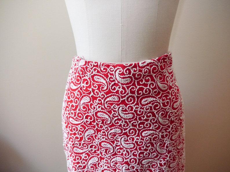 1960s embroidered maxi skirt  statement  vintage skirt
