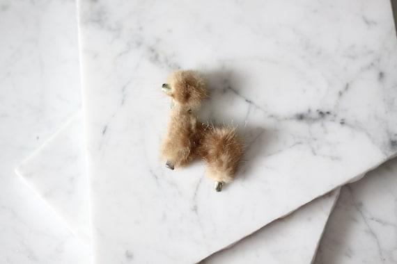 1950s poodle brooch // 1950s mink poodle brooch // vintage brooch