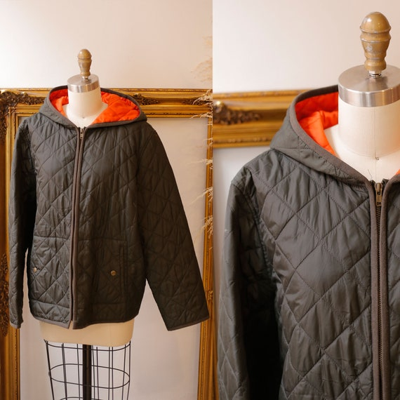 1990s quilted Ralph Lauren jacket  //navy blue qui