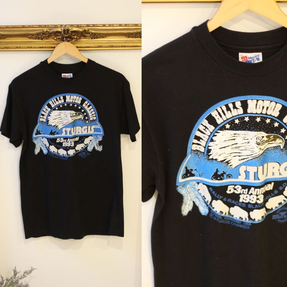 1990s Sturgis motorcycle t-shirt // 1990s motorcycle tshirt // vintage t-shirt