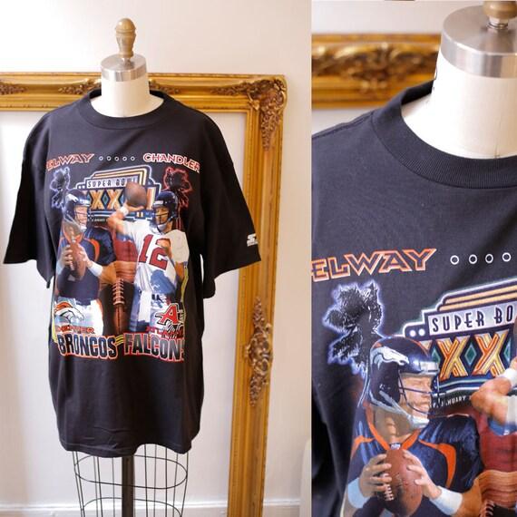 1990s Superbowl tee // 1990s Denver Broncos t-shirt // 1990s Atlanta vintage t-shirt