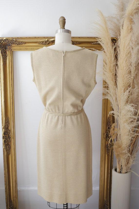 1960s gold sparkle dress set // sweater dress set… - image 5
