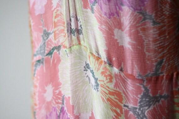 1920s floral silk chiffon dress // 1920s flapper … - image 3