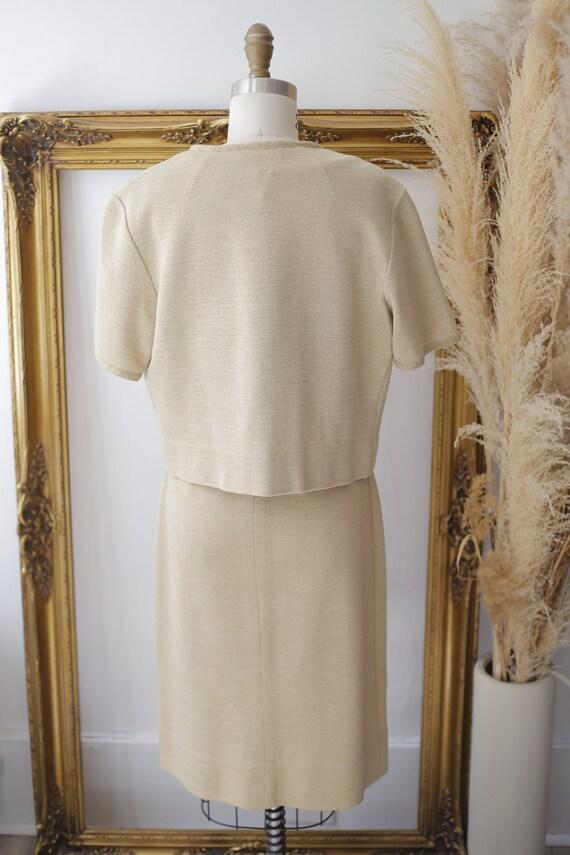 1960s gold sparkle dress set // sweater dress set… - image 9