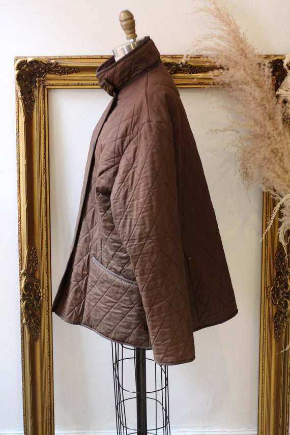 1990s quilted Barbour jacket  //brown quilted jac… - image 6