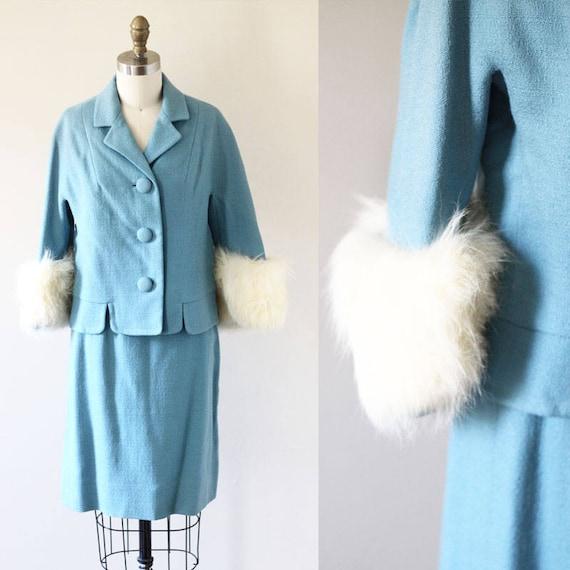 1950s Jackie O Robin Egg Suit // 1950s vintage suit // vintage suit