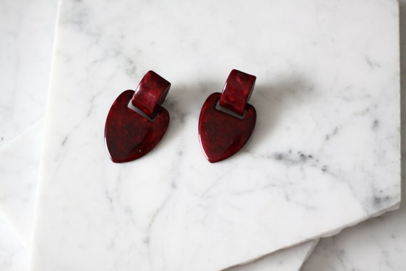 1970s modern earrings // 1970s minimal earrings // vintage earrings