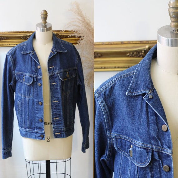 1980s Blue Wash Denim Jacket // LEE jean jacket // vintage denim jacket