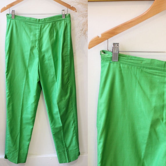 1960s green trousers // 1960s green pants // vinta