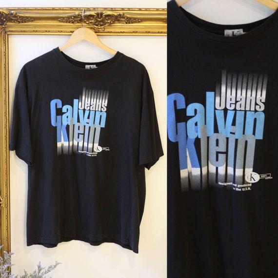 1990s Calvin Klein t-shirt // 1990s logo t-shirt // vintage t-shirt