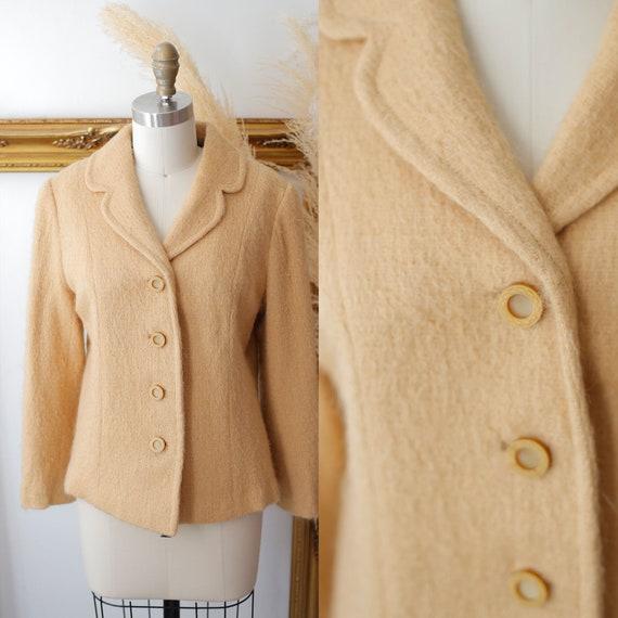 1960s camel blazer // 1960s mohair blazer // vintage jacket