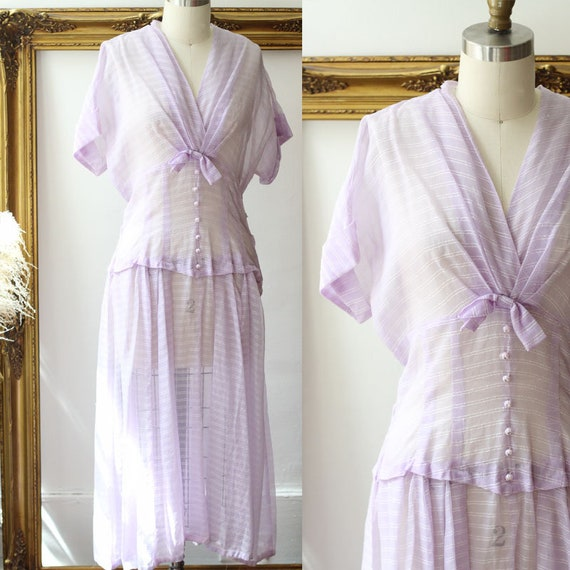 1950s sheer purple dress // 1950s sheer cocktail dress // vintage dress