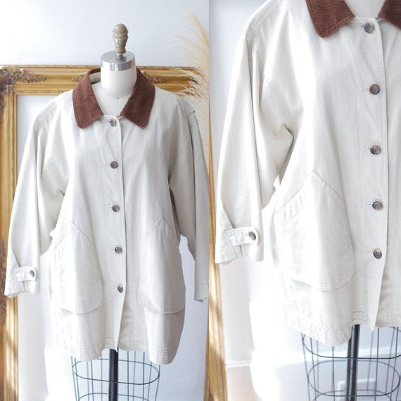 1990s canvas jacket  //1990s hunting jacket // vintage barn jacket
