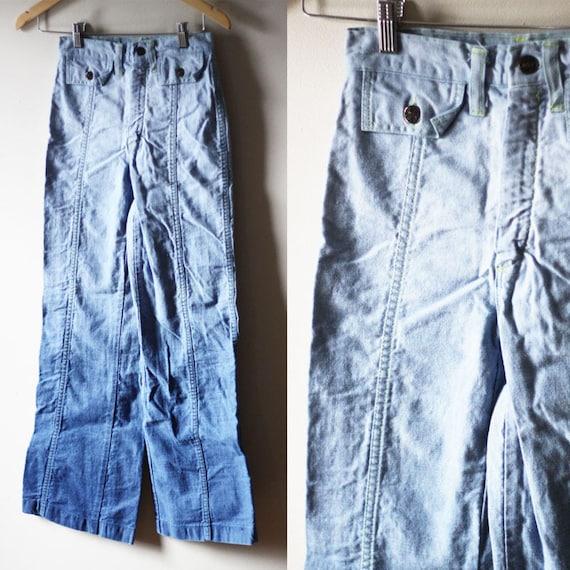 1970s Ombre jeans // vintage bell bottom denim // vintage jeans