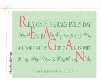 Baptism gift from godmother personalized gift for baby girl christening baptism gift for goddaughter gifts christian nursery religious baby gift printable personalized poem 8x10 reagan negle Image collections