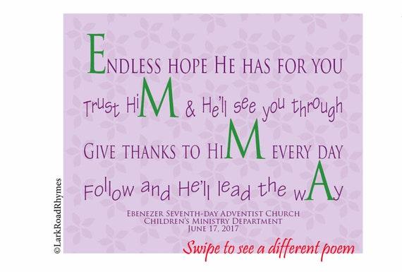 Fille De Cadeau De Baptême Poème 8x10 De Nom Pour Le Christening De Filleule Impression Chrétienne Pour Lenfant Plus âgé Bénédiction De