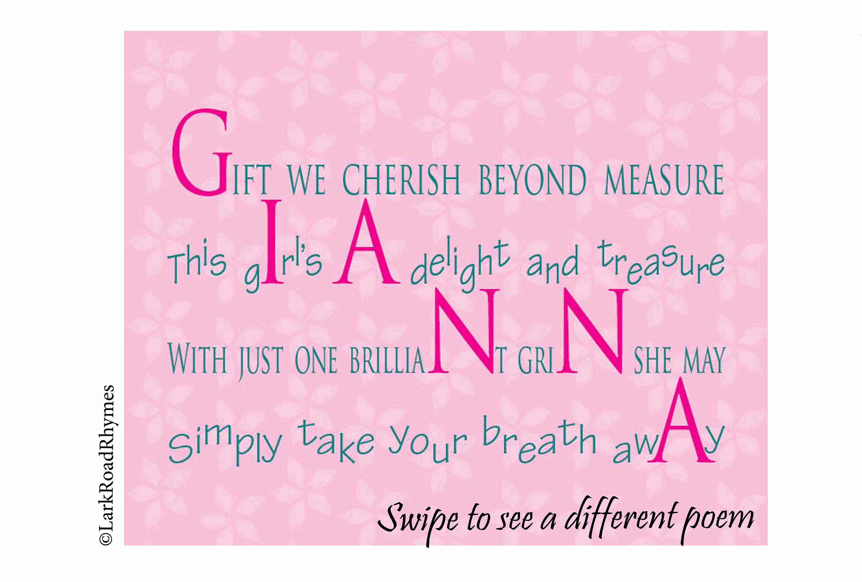 Gift For 1 Year Old Birthday Girl 8x10 Nursery Wall At