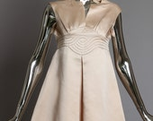 Space Age Pierre Cardin Pale Pink 1960 39 s Dress with Trapunto Stitching