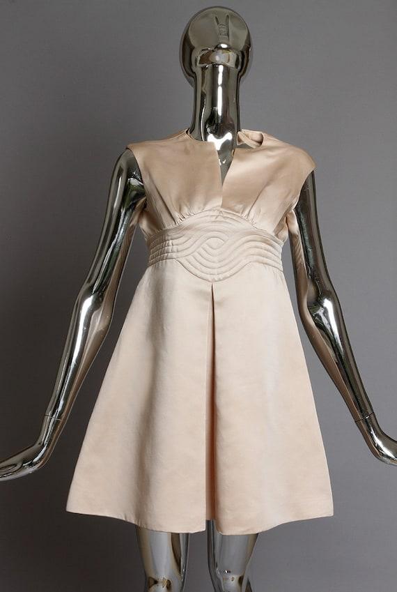 Space Age Pierre Cardin Pale Pink 1960's Dress wit