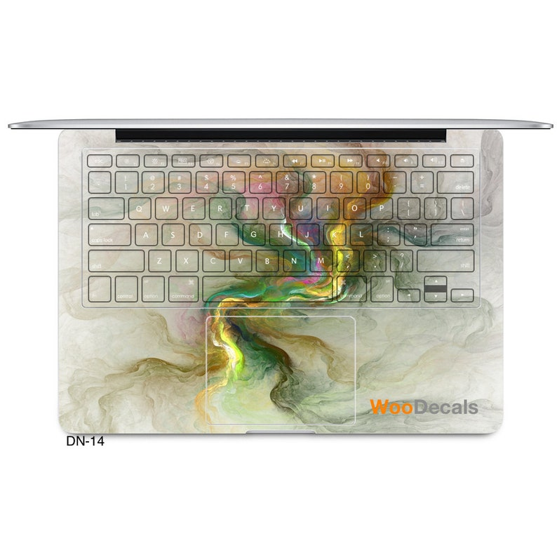 MacBook Pro Air Decal Sticker Skin Wrap Cover Decals Stickers Skins for MacBook Keyboard Retina Touch Bar Laptop 11 12 13 15 in Marble DN14