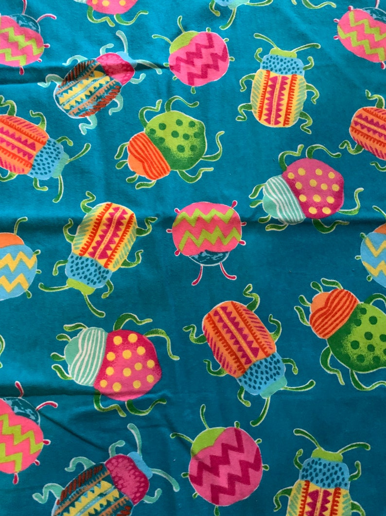 Washable Reusable Bedwetting Mattress Bed Pad Potty Training Protection Blue Bugs Insects