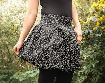 Balloon skirt dragonflies black